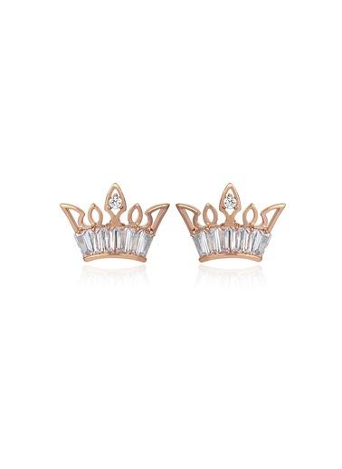 1,20 ct Pırlanta Efekt Altın Crown Trapes Roz Küpe-Tophills Diamond Co.